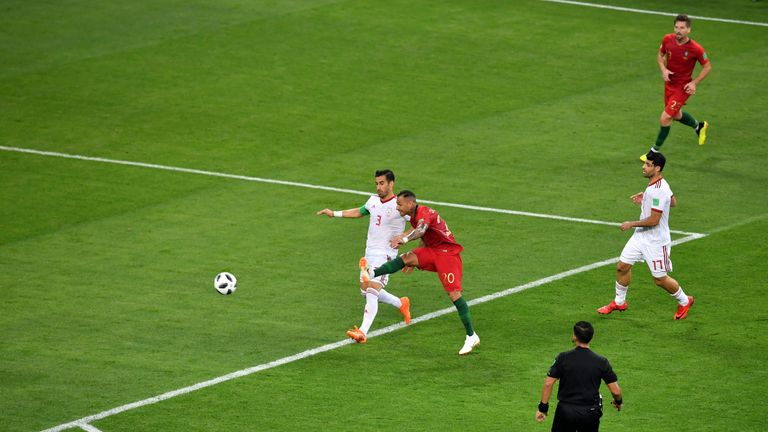 Quaresma s opening goal in Portugal s 1-1 draw with Iran in Saransk 03795683c4198