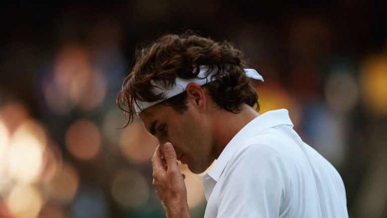 Federer was finally beaten after five successive Wimbledon titles