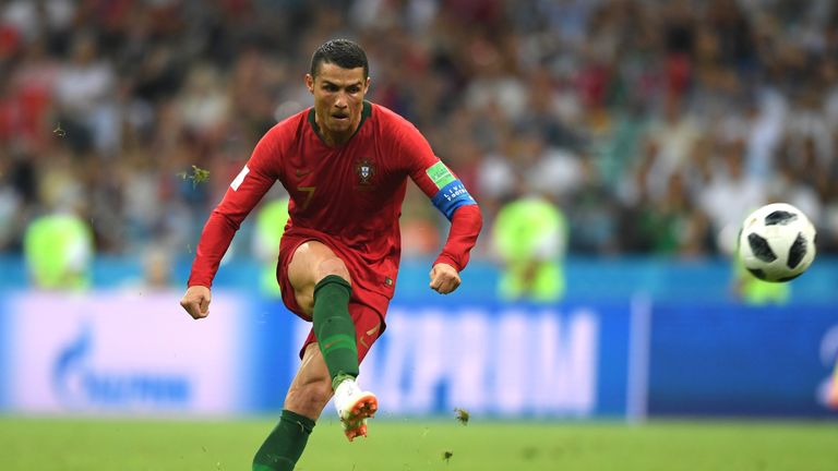 Portugal's Cristiano Ronaldo hit a late equalising free-kick against Spain