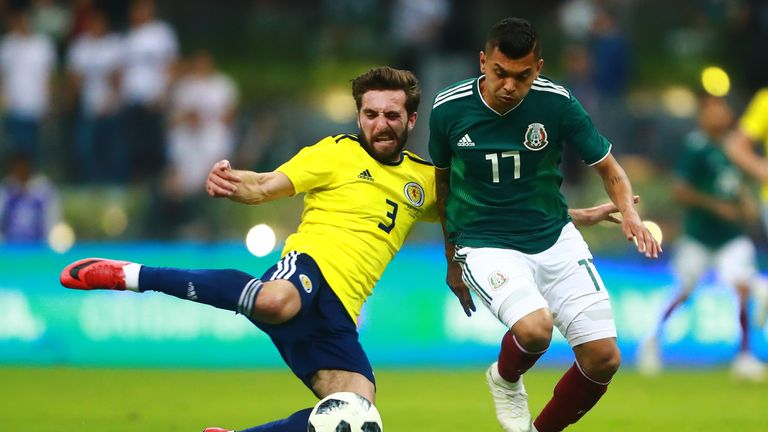 Aberdeen's Graeme Shinnie played for Scotland in their summer friendlies against Mexico and Peru as well as coming off the bench against Portugal on Sunday