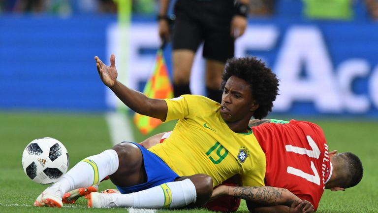 Willian was at the World Cup with Brazil this summer