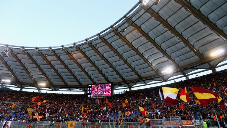 Roma currently play in the Stadio Olimpico