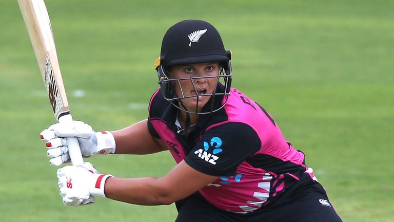 New Zealand Suzie Bates struck her maiden T20I century this summer during the Tri-series in England