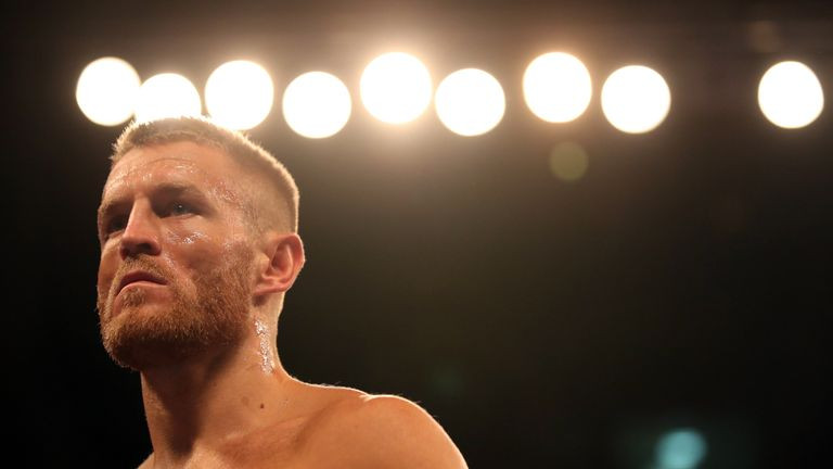 Terry Flanagan prepares for action at the Manchester Arena
