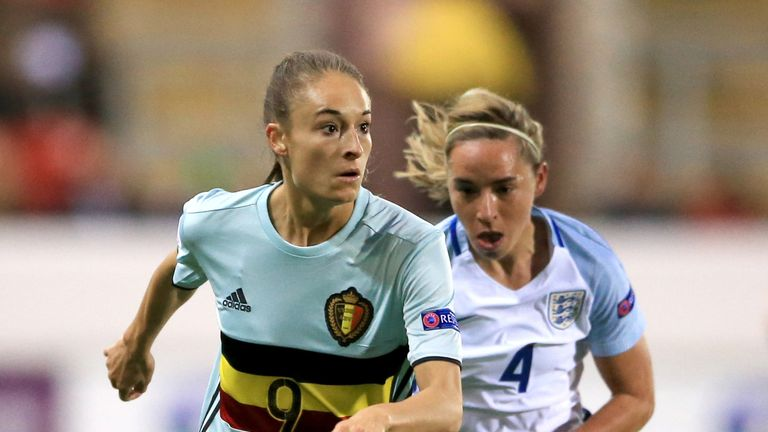 New City signing Tessa Wullaert in action for Belgium