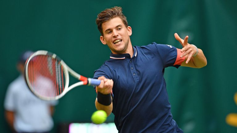 Dominic Thiem booked his place in the second round of the Gerry Weber Open 5ccbc0160