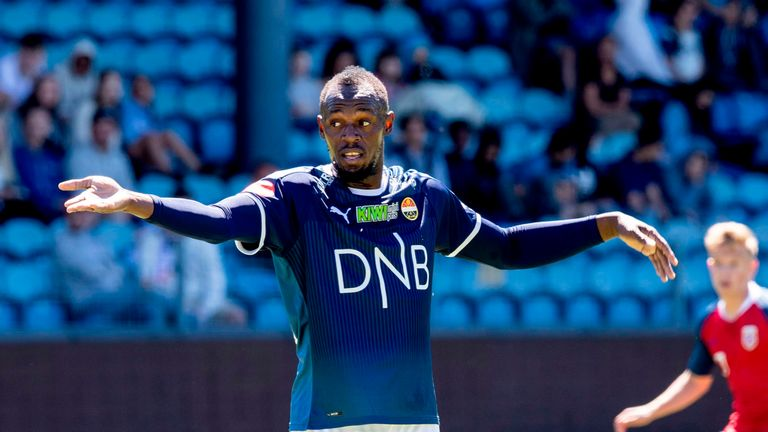Usain Bolt played for Norwegian side Stromsgodset on Tuesday
