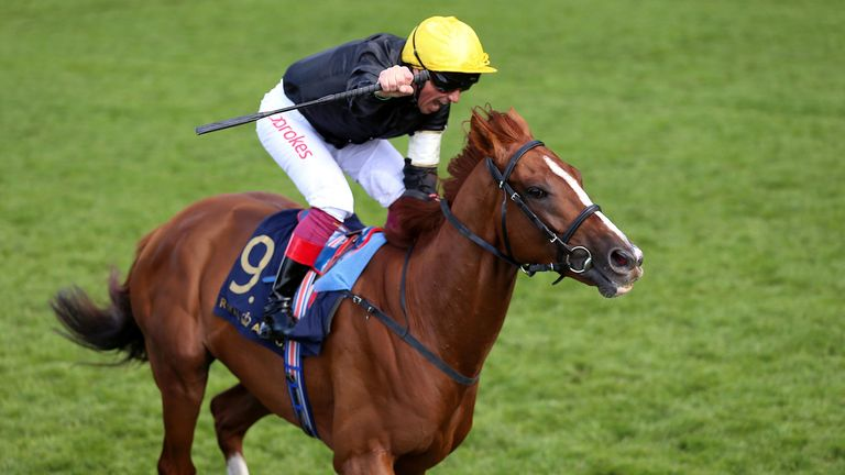 Frankie Dettori winning on Stradivarius at Royal Ascot