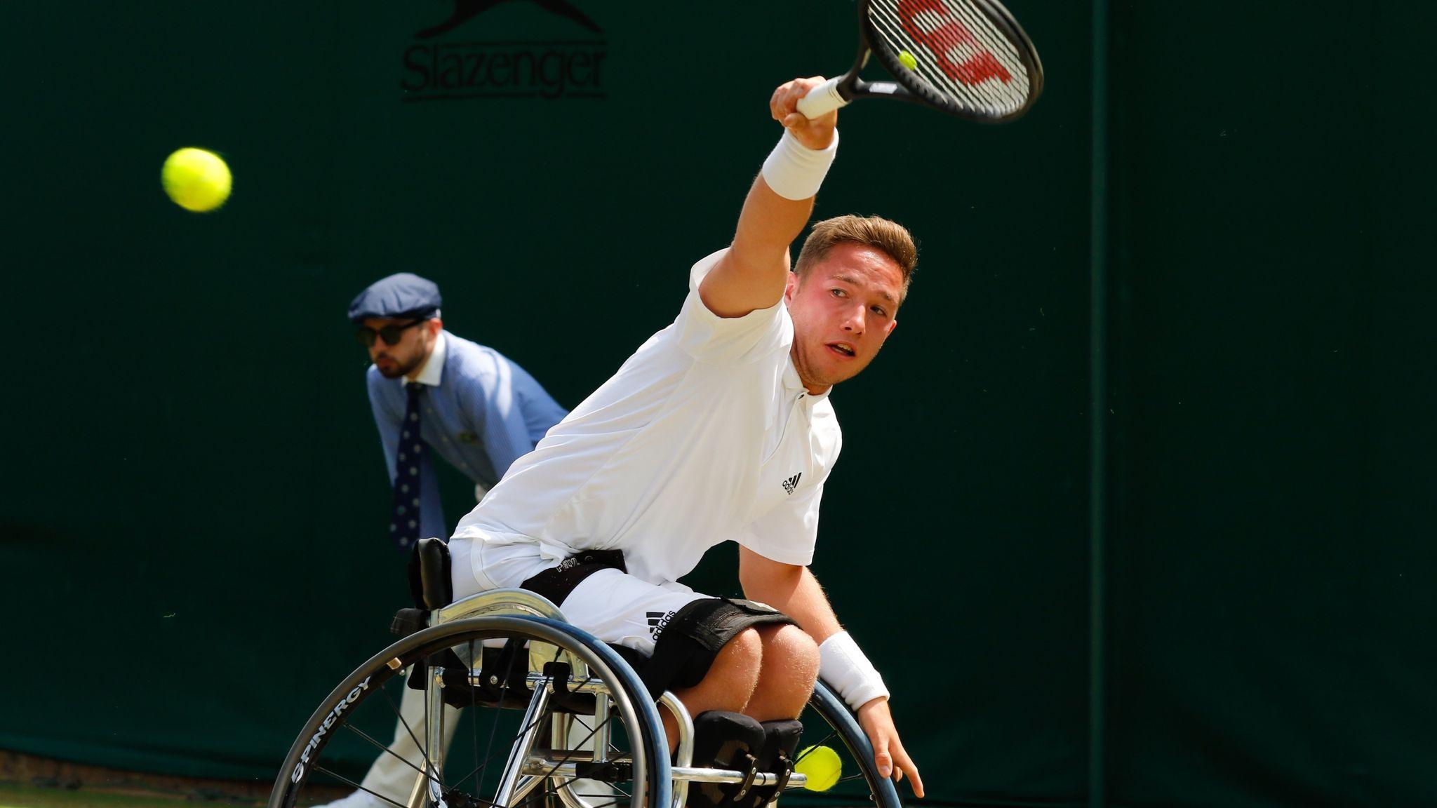 Alfie Hewett into Wimbledon semi-final after 7-6 6-4 win over Stephane Houdet