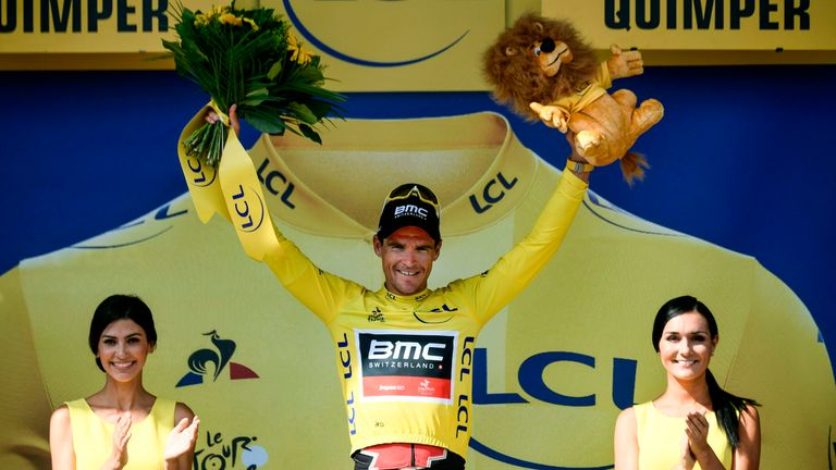 Greg Van Avermaet finished seventh on stage five to retain his yellow jersey