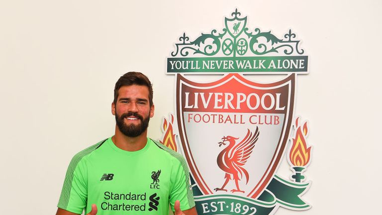 Alisson completed his world-record move to Liverpool on Thursday
