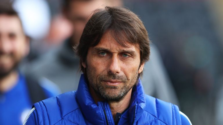 Former Chelsea boss Antonio Conte has been linked with Roma