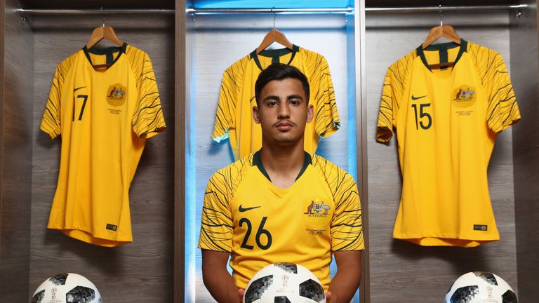 Australia midfielder Daniel Arzani was the youngest player at the World Cup
