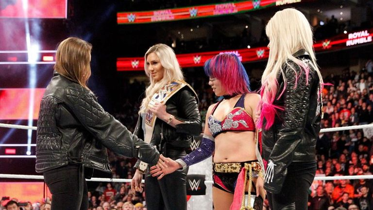 Asuka refused to shake Ronda Rousey's hand at the Royal Rumble in January