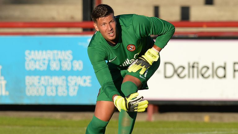 Benjamin Siegrist was in goal as Dundee United lost to Arbroath on penalties