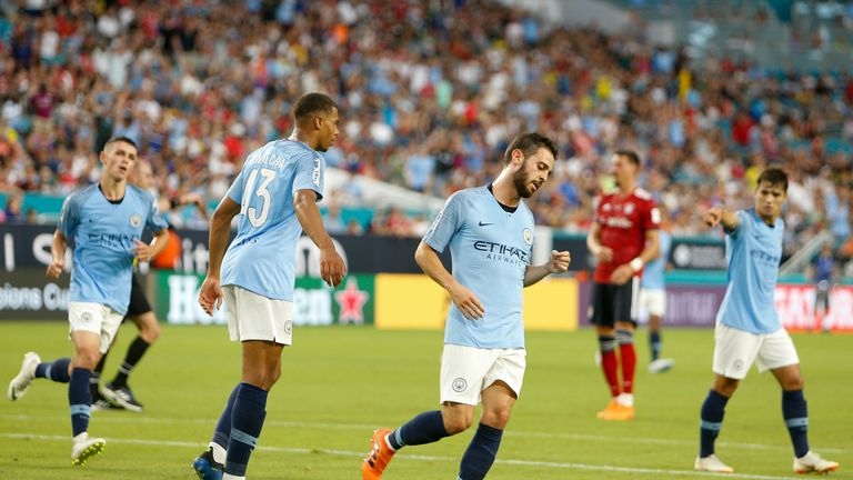 Bernardo Silva scored twice after coming on to replace the injured Riyad Mahrez