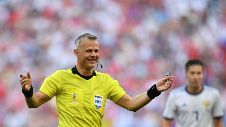 Dutch official Bjorn Kuipers will take charge of England's quarter-final showdown with Sweden