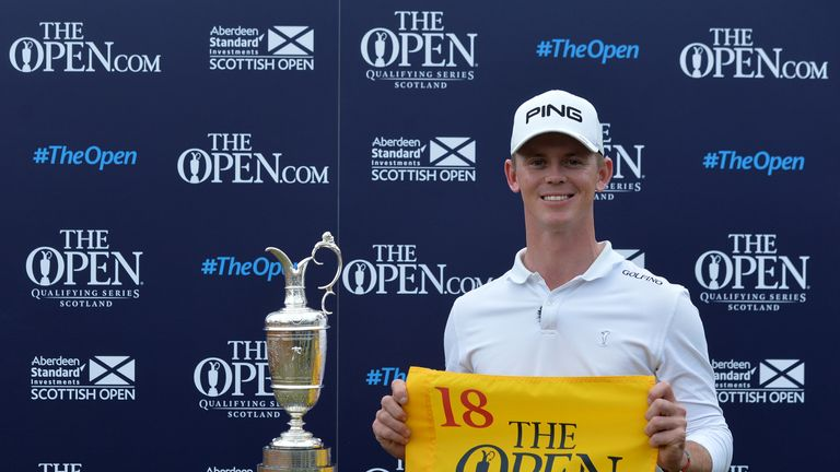 Stone qualified for The Open with Scottish Open victory