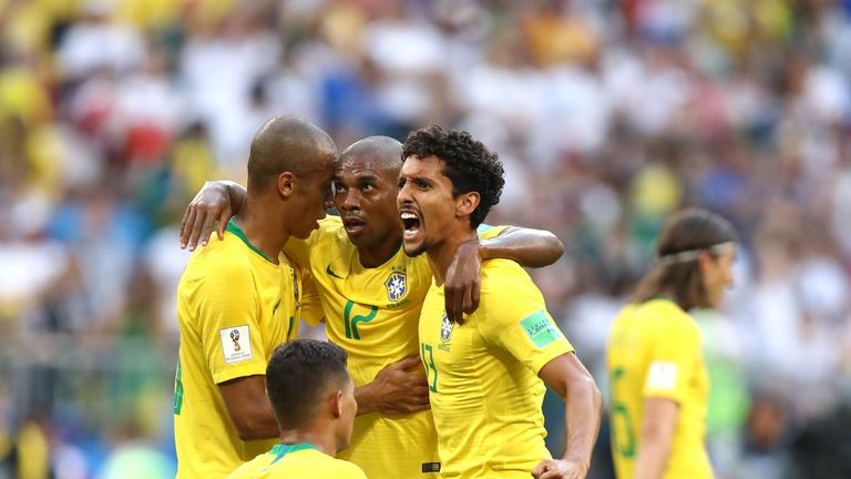 Fernandinho, who came on against Mexico in the last 16, will start for Brazil