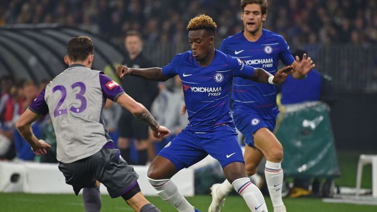 Callum Hudson-Odoi was a threat throughout the first half