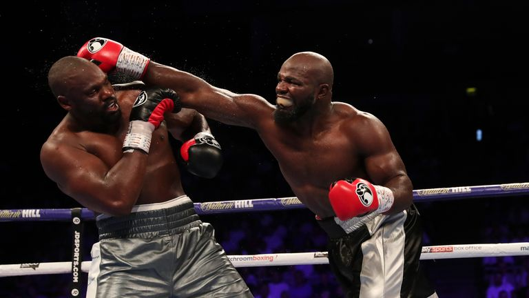Four months on from an epic clash with Derek Chisora, Takam (R) looks set to return to The O2