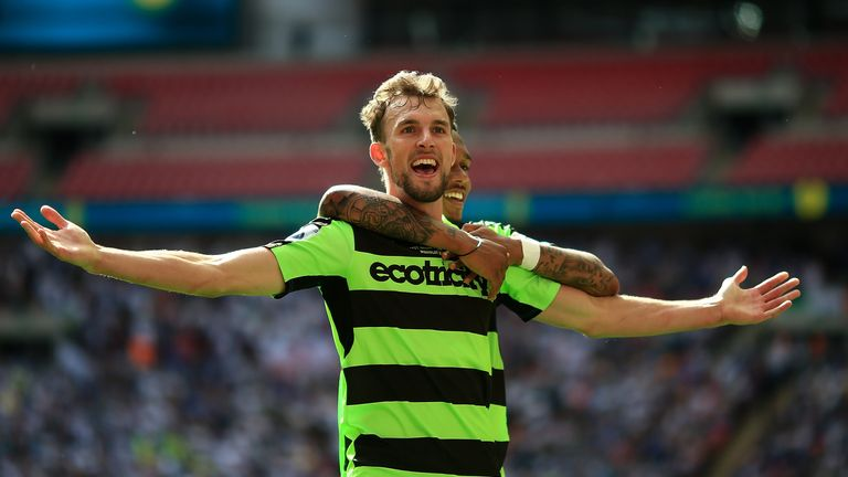 Christian Doidge scored in the National League play-off final that promoted Forest Green to the EFL in 2017
