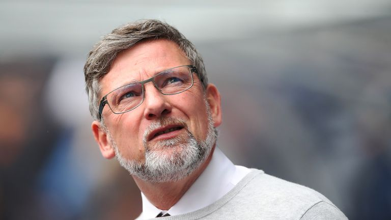 Hearts manager Craig Levein remains in hospital in Edinburgh