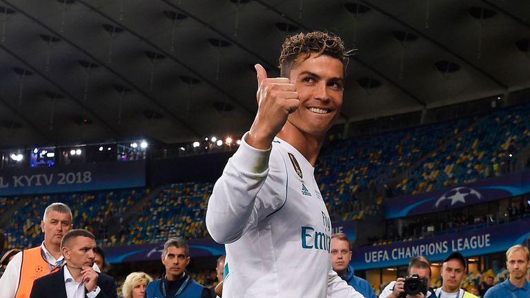 Cristiano Ronaldo waved goodbye to Real Madrid after nine years