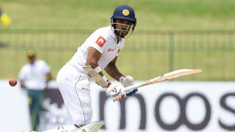 Danushka Gunathilaka is currently Sri Lanka's best-performing batsman in their Test against South Africa