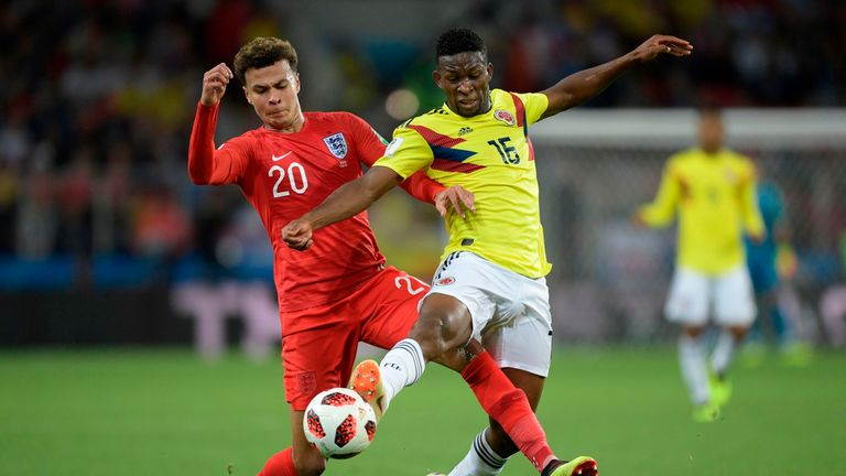 Lerma played for Colombia in the World Cup last-16 match against England