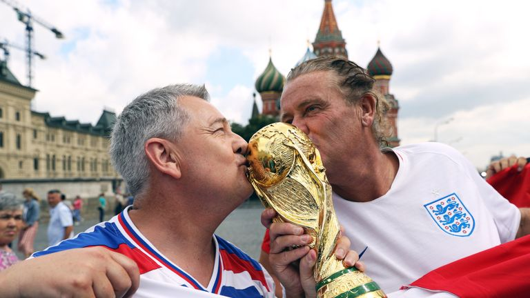 England fans in Moscow ahead of Croatia semi-final