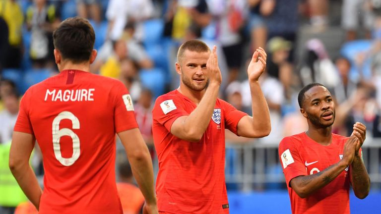Eric Dier and Raheem Sterling have been wearing unauthorised socks at Russia 2018