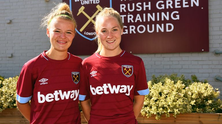 West Ham United duo Esmee De Graaf and Lucienne Reichardt joined the club in July