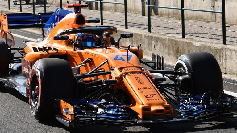 Norris tested for McLaren in Hungary just before the summer break