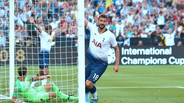 Fernando Llorente helped Spurs recover from going behind against Roma