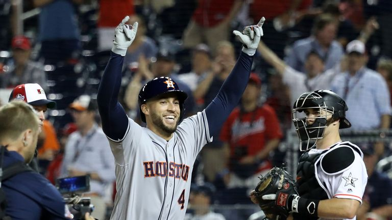 George Springer followed Bregman's home run with one of his own