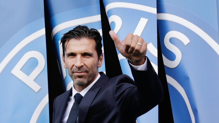 Gianluigi Buffon moved to PSG in the summer