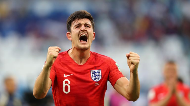 Harry Maguire scored the opener against Sweden