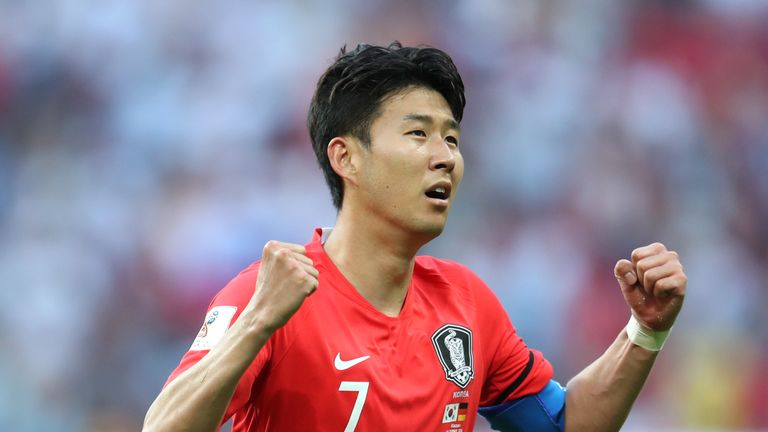 Heung-Min Son scored two goals in South Korea's three games at the 2018 World Cup