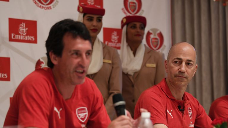 Gazidis led the selection process which saw Unai Emery appointed Arsenal manager
