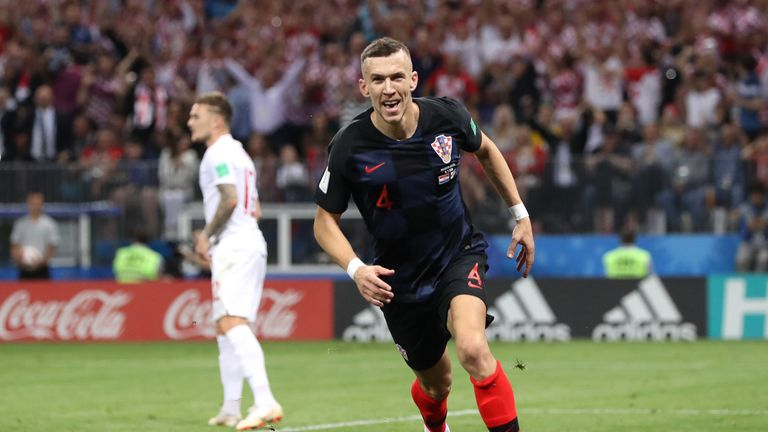 Ivan Perisic drew Croatia level midway through the second half