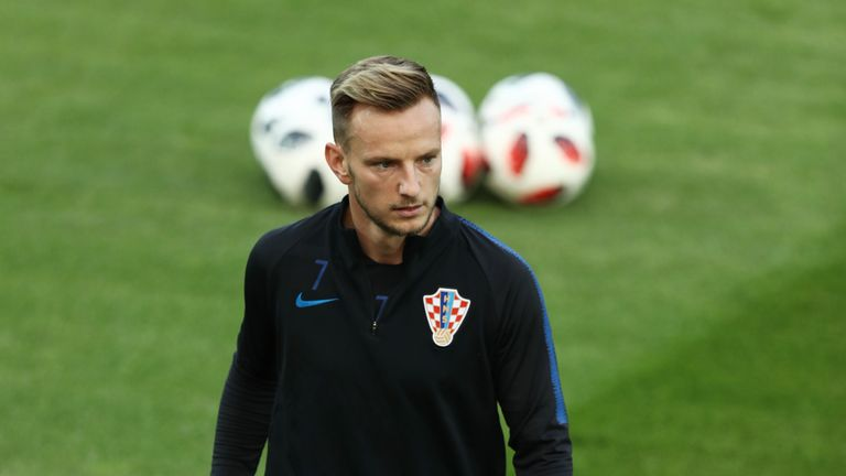 Ivan Rakitic during a Croatia training session ahead of the World Cup final