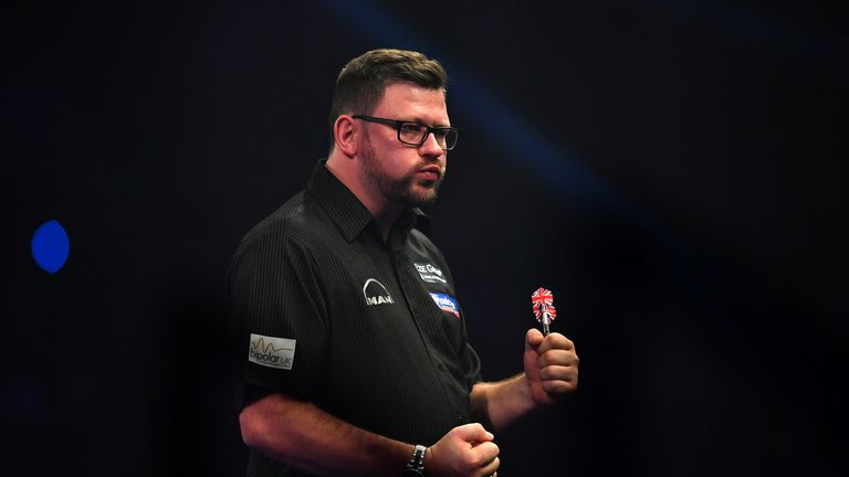 James Wade nailed a nine-dart finish in Barnsley