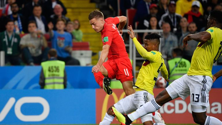 Vardy suffered a groin injury during the win in Moscow