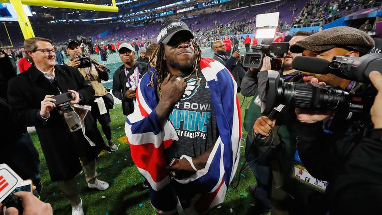 Ajayi was part of the team that won Super Bowl LII