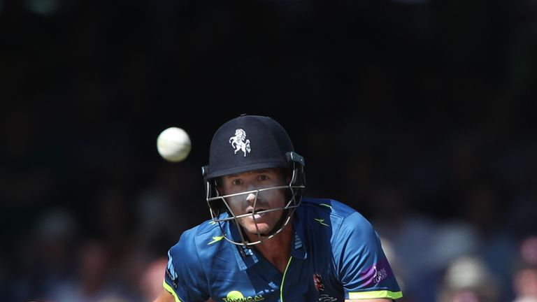 Joe Denly finished second in the vote, ahead of Warwickshire's Ian Bell and Jonathan Trott