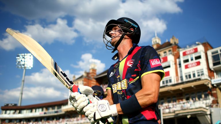 Joe Denly put in an incredible match-winning display for Kent, striking a century and taking a hat-trick
