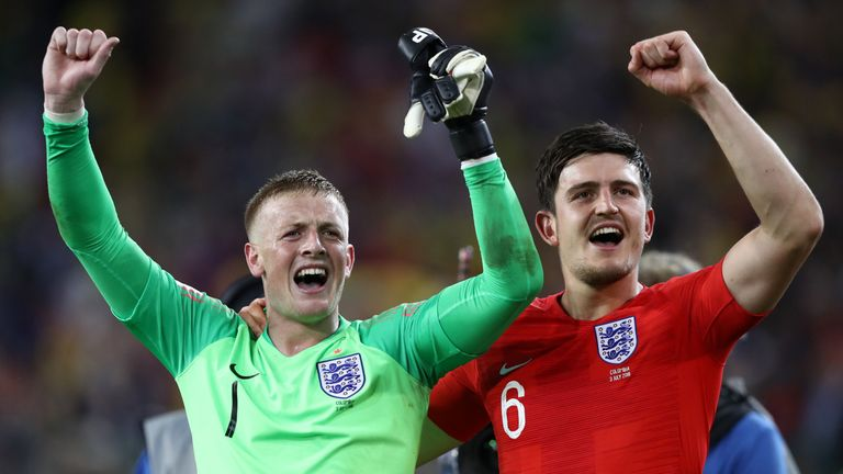 Jordan Pickford and Harry Maguire impressed against Colombia