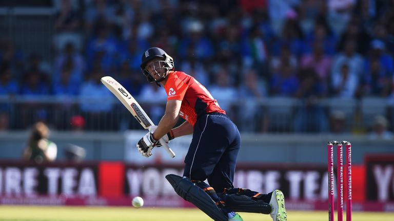 Jos Buttler smashed a half-century in the first IT20 against India