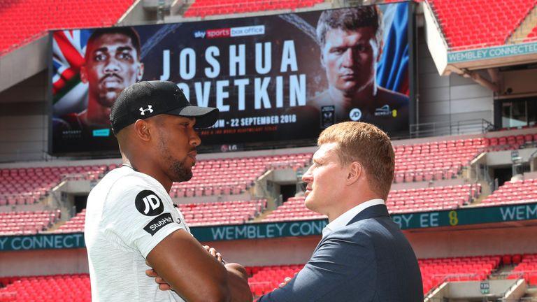 Joshua and Povetkin meet at Wembley